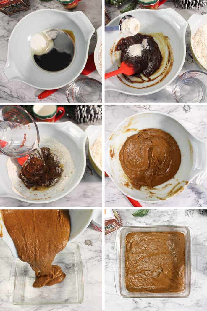 Homemade Spicy Gingerbread Steps 1-6