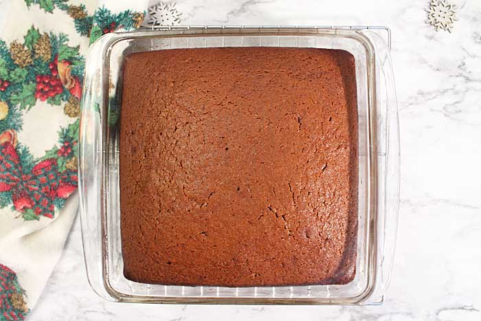 Homemade Spicy Gingerbread baked