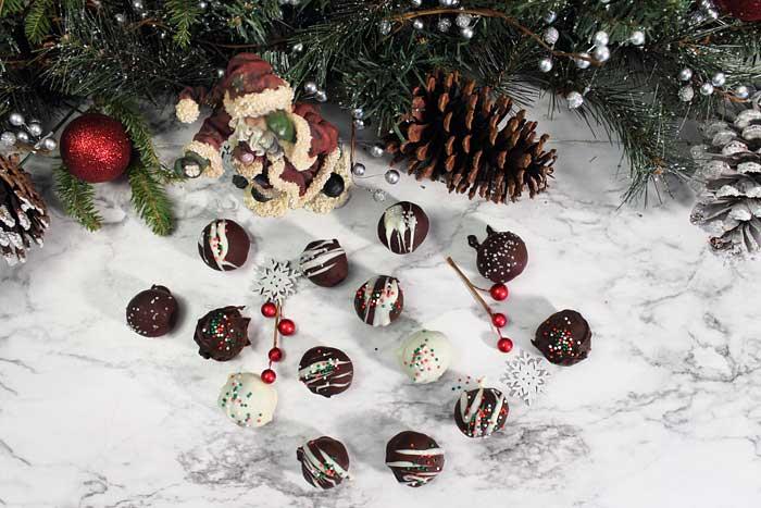 Gingerbread Truffles overhead