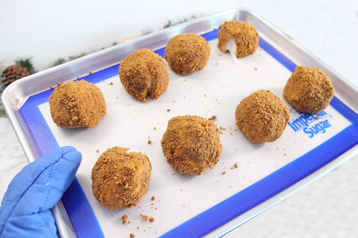 Sweet Potato Balls right out of oven.