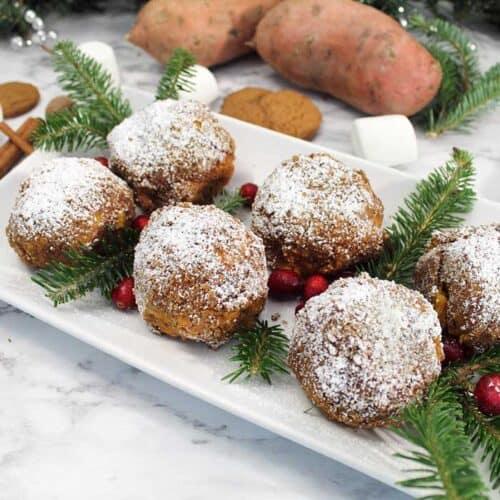 Sweet Potato Puffs serving square