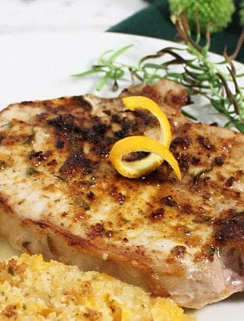 Easy Air Fryer Pork Chops closeup square