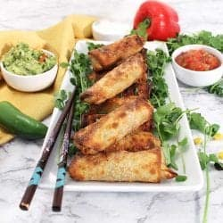 Air Fryer Southwest Egg Rolls plated square