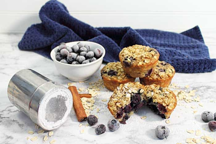 Blueberry Yogurt Oatmeal Muffins 2