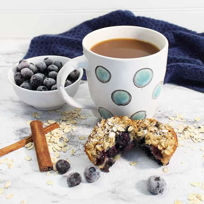 Blueberry Yogurt Oatmeal Muffins breakfast