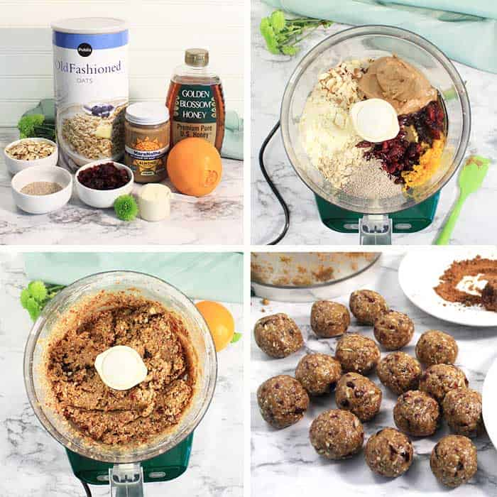 Cranberry Orange Energy Balls steps