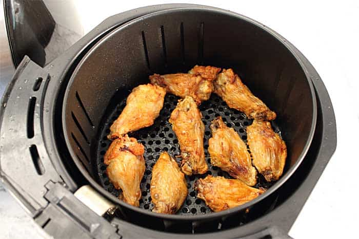 Crispy Air Fryer Chicken Wings 1st batch done