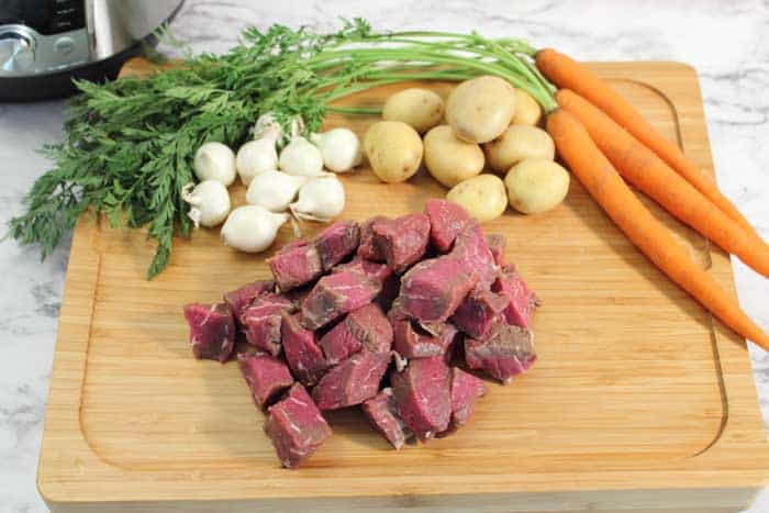 Instant Pot Greek Beef Stew ingredients
