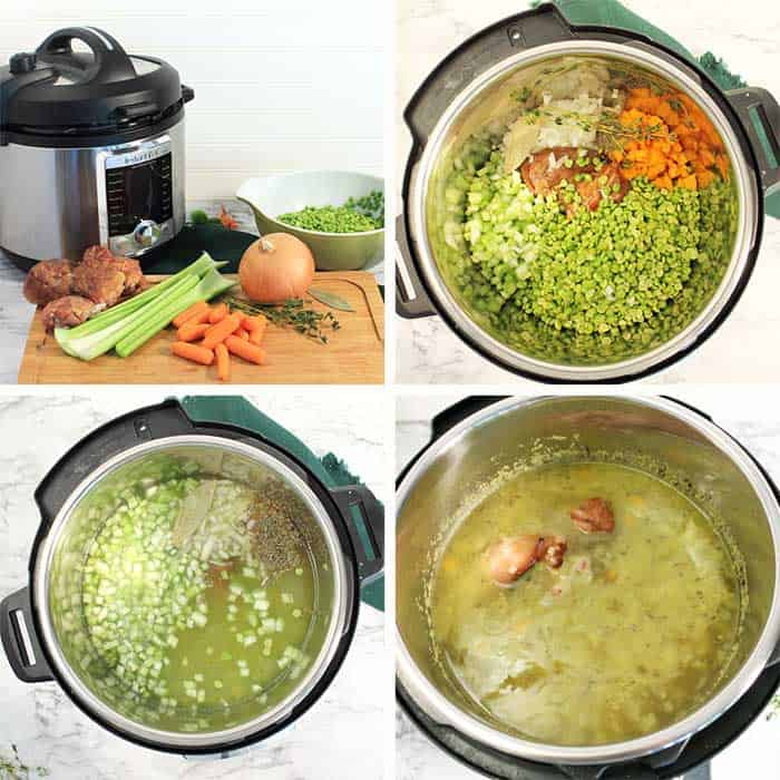 Instant Pot Split Pea Soup 1st steps