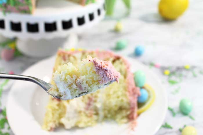 Easter Strawberry Lemon Cake bite