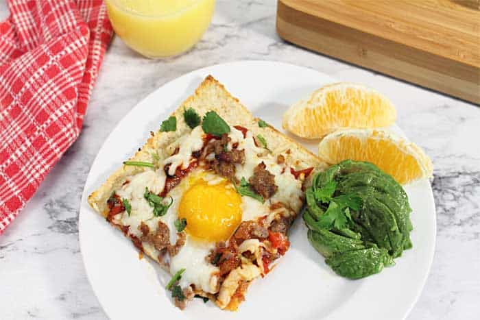 Shakshuka Breakfast Pizza breakfast