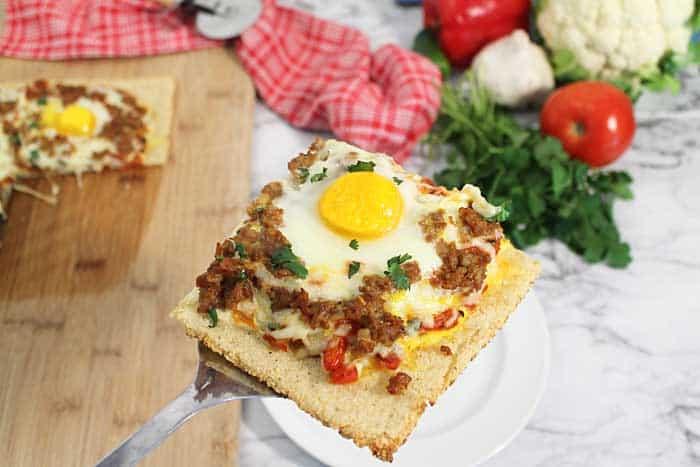 Shakshuka Breakfast Pizza serving