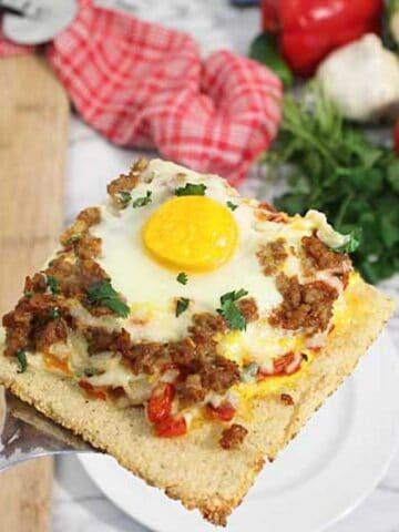 Shakshuka Breakfast Pizza square