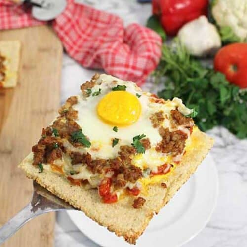 Shakshuka Breakfast Pizza square
