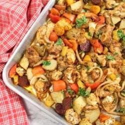 Cajun Mixed Grill Sheet Pan Dinner square
