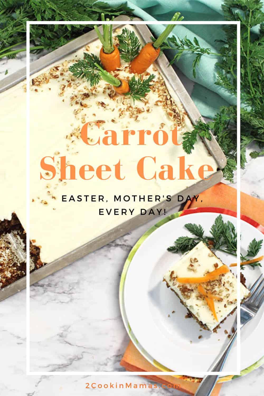 Carrot Sheet Cake with Buttermilk Glaze