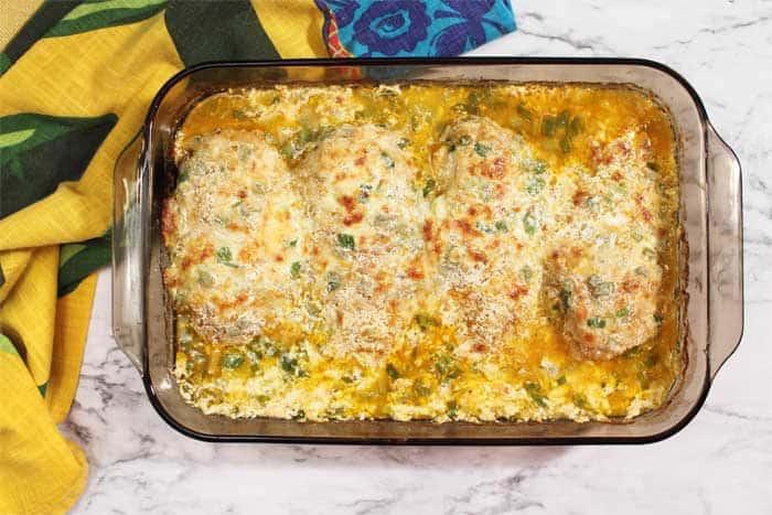 Chicken Fiesta Casserole baked