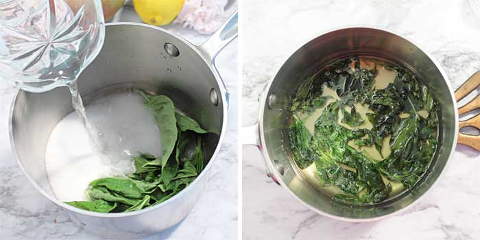 Making Basil Simple Syrup