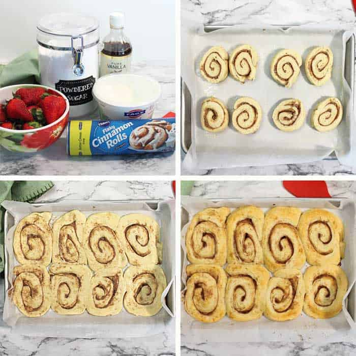 how to make Strawberry Cinnamon Roll steps