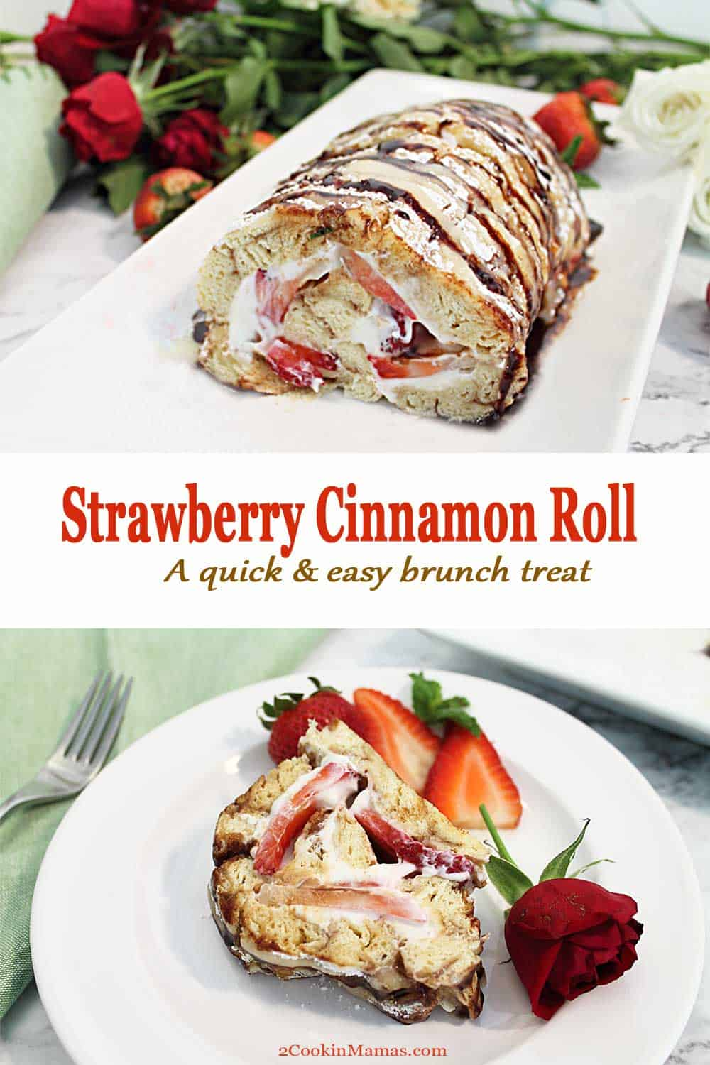Easy Strawberry Cinnamon Roll