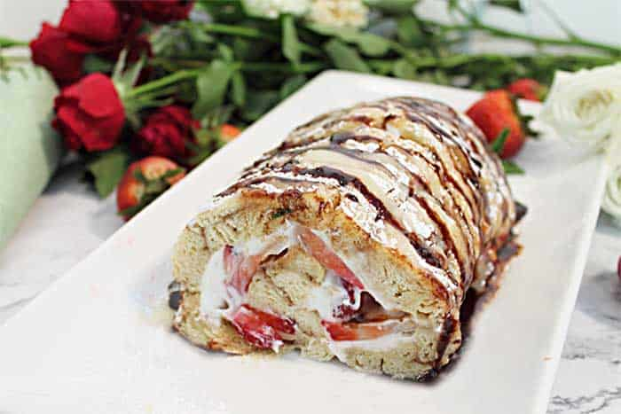 Strawberry Roll inside wide