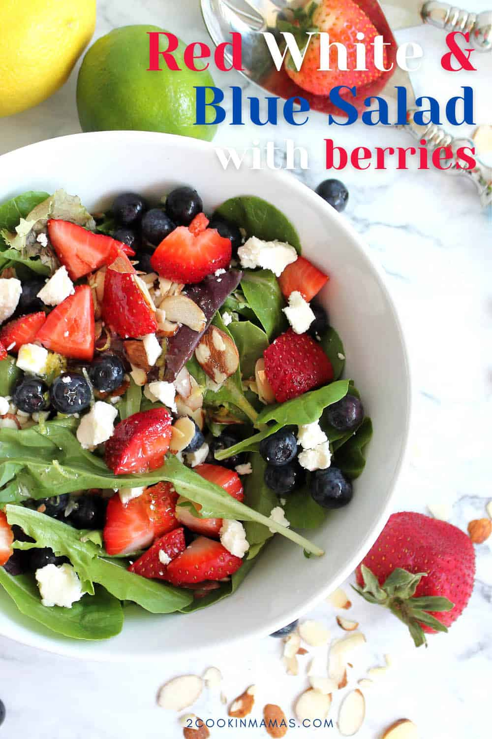 Red White and Blue Salad with Berries