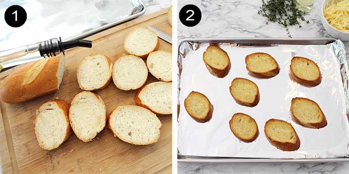 Toasting bread steps