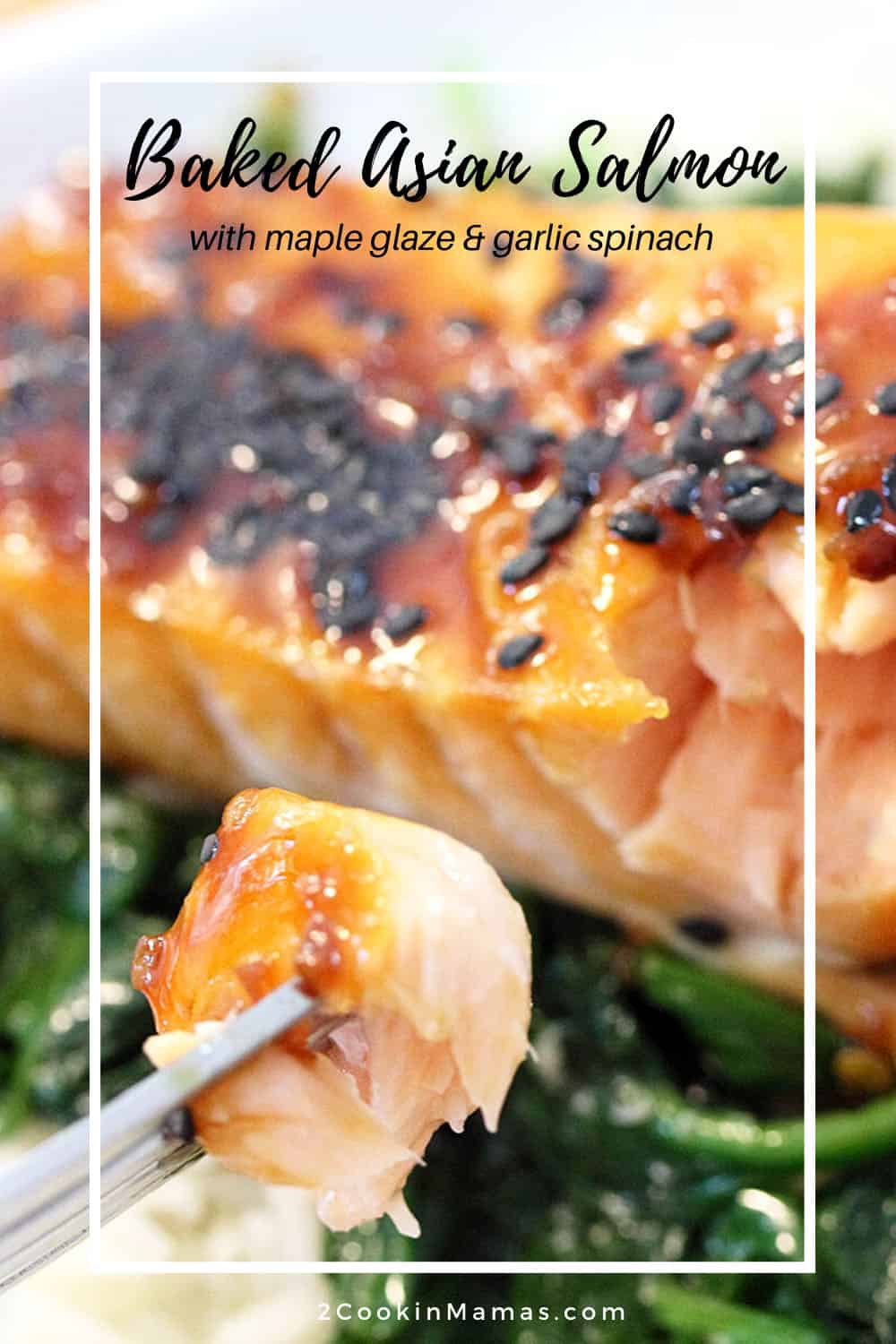 Baked Asian Salmon with Maple Glaze