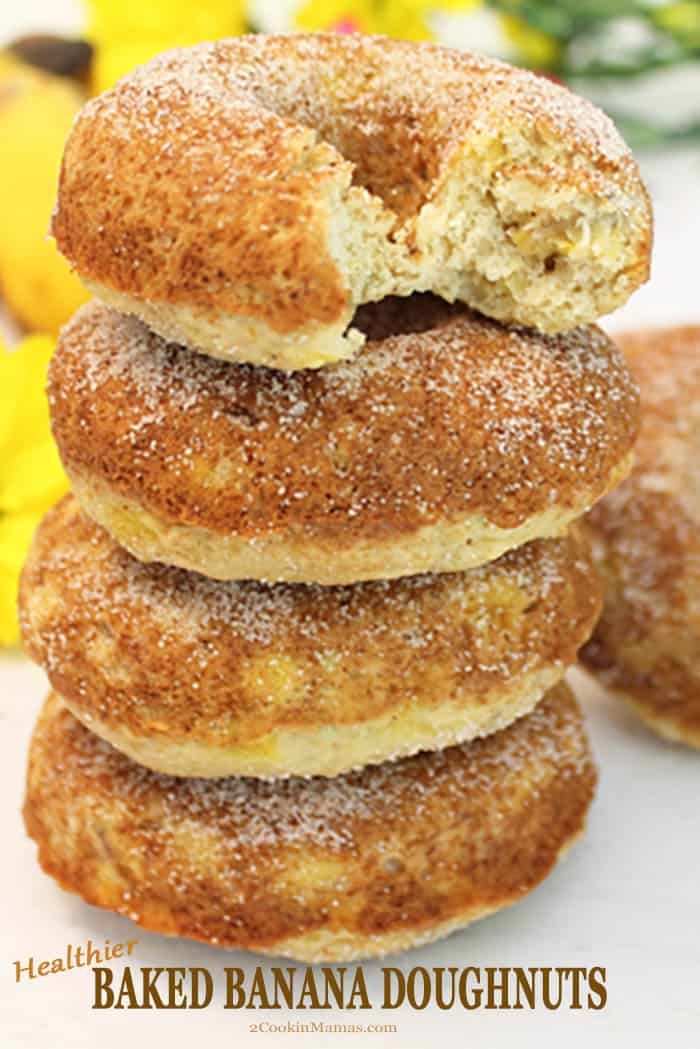 Healthier Banana Doughnuts - Baked not Fried