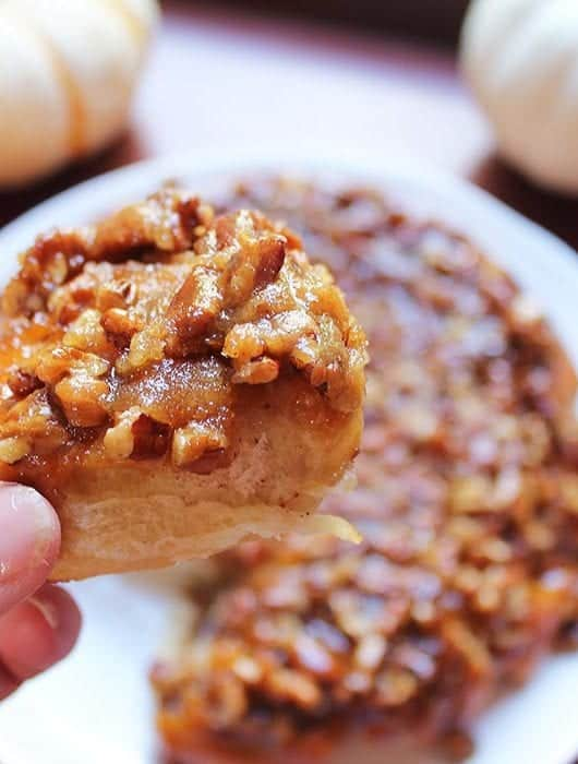 Single sticky bun square.