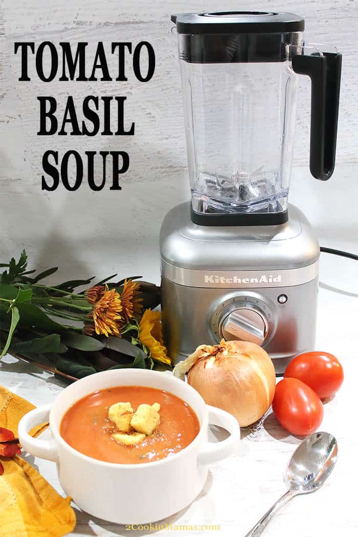 Easy Blender Tomato Basil Soup