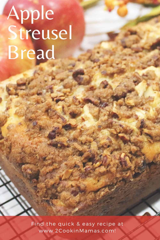 Cinnamon Apple Streusel Bread