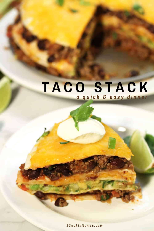 Taco Tortilla Stack