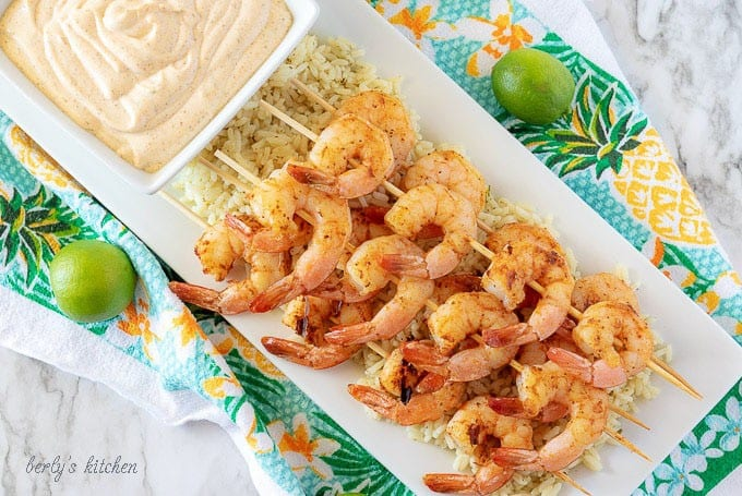 Grilled Shrimp with Key Lime Aioli
