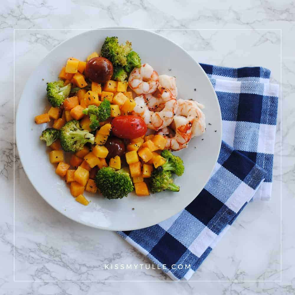Roasted Shrimp and Vegetables is the Perfect Fall Sheet Pan Meal