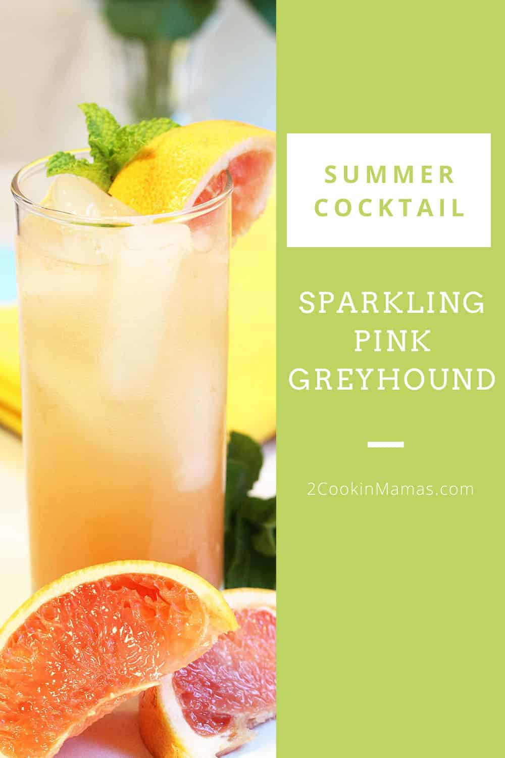 Sparkling Pink Greyhound Cocktail
