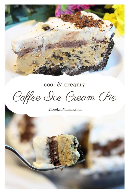 Coffee Ice Cream Pie with Dark Chocolate