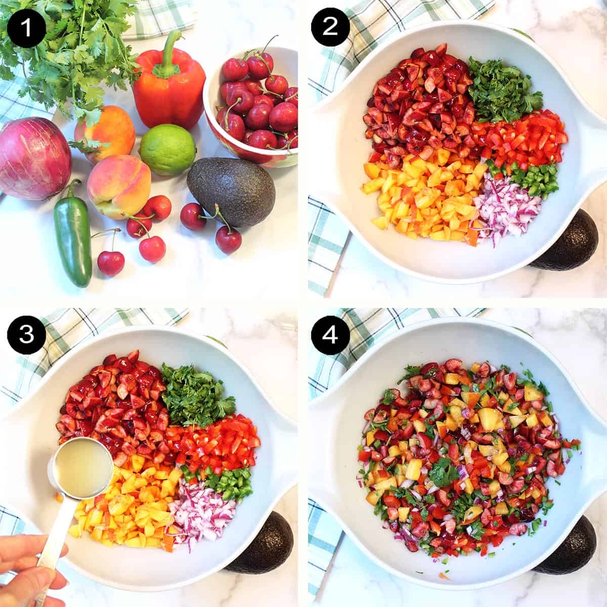 4 easy steps for salsa prep.