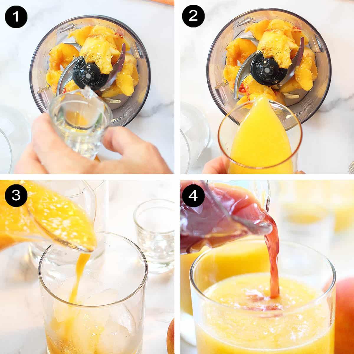 Steps to make the perfect Georgia peach vodka cocktail.