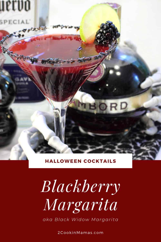 Black Widow Margarita aka Blackberry Margarita