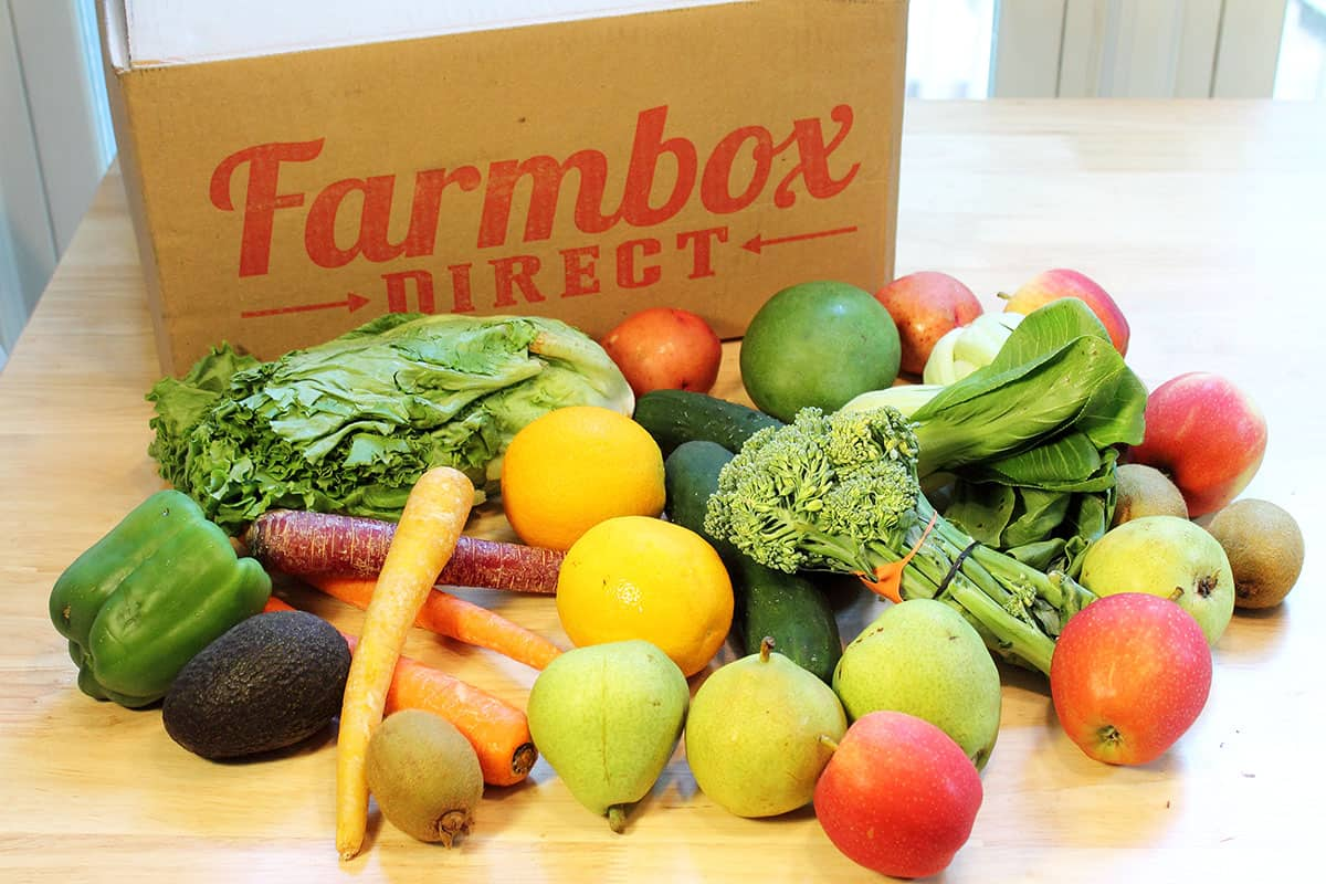 Medium Farmbox Direct produce shipment.