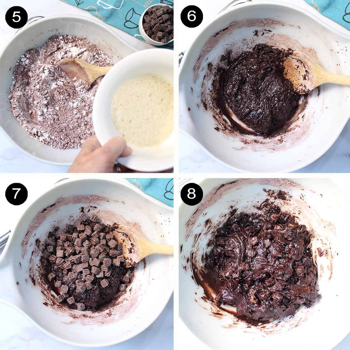 Last 4 prep steps for chocolate cookies.