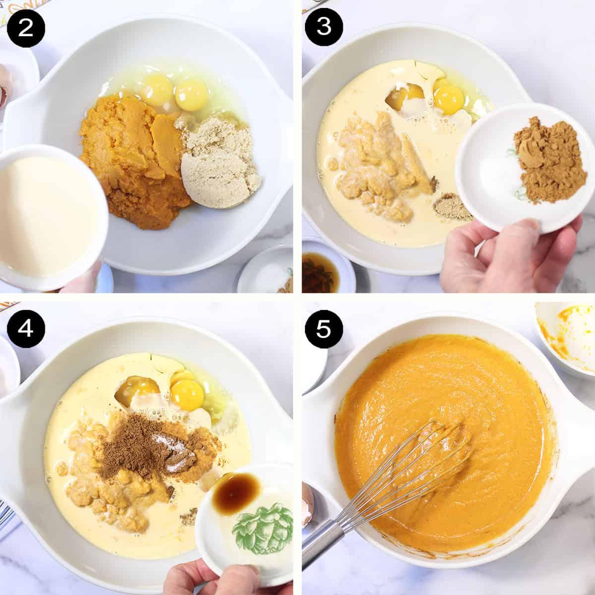 Steps to make pumpkin layer.