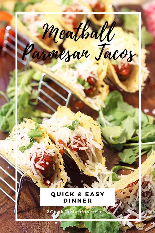 Crispy Meatball Parmesan Tacos