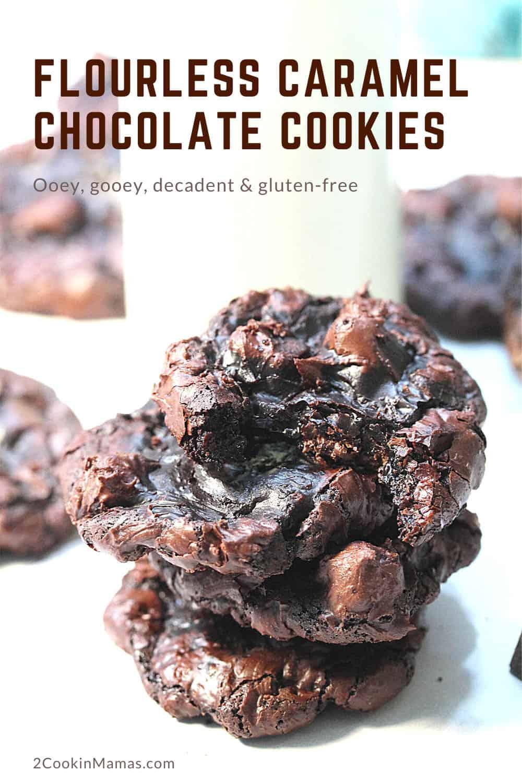 Flourless Caramel Chocolate Cookies