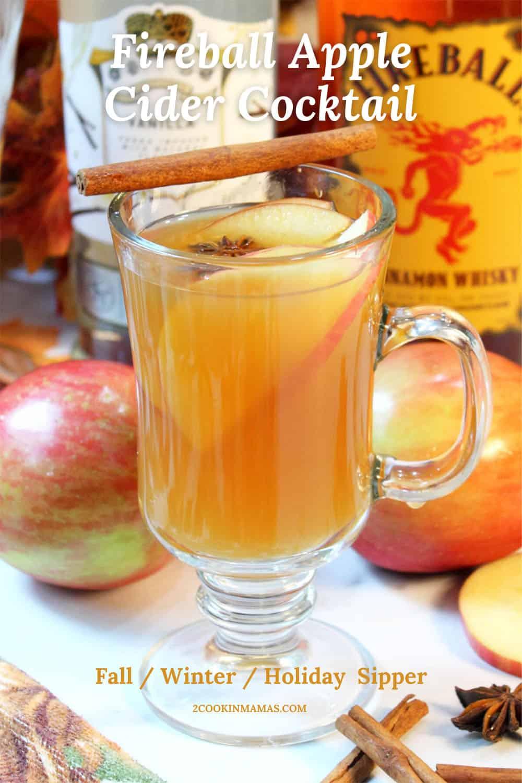 Hot Fireball Apple Cider Cocktail