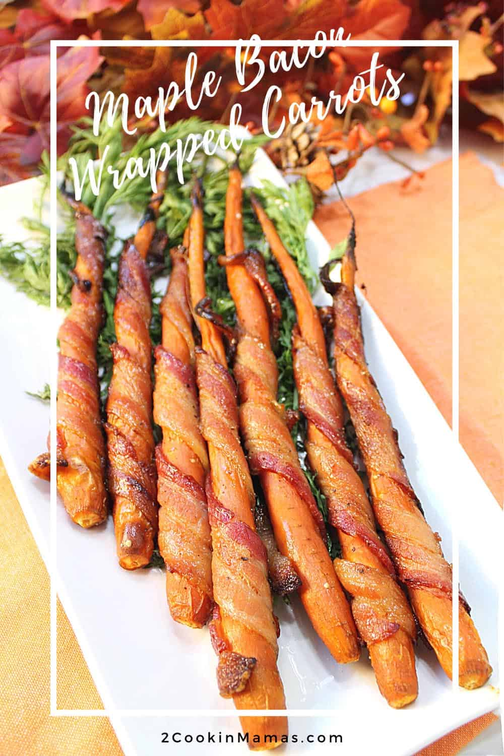 Maple Bacon Wrapped Carrots