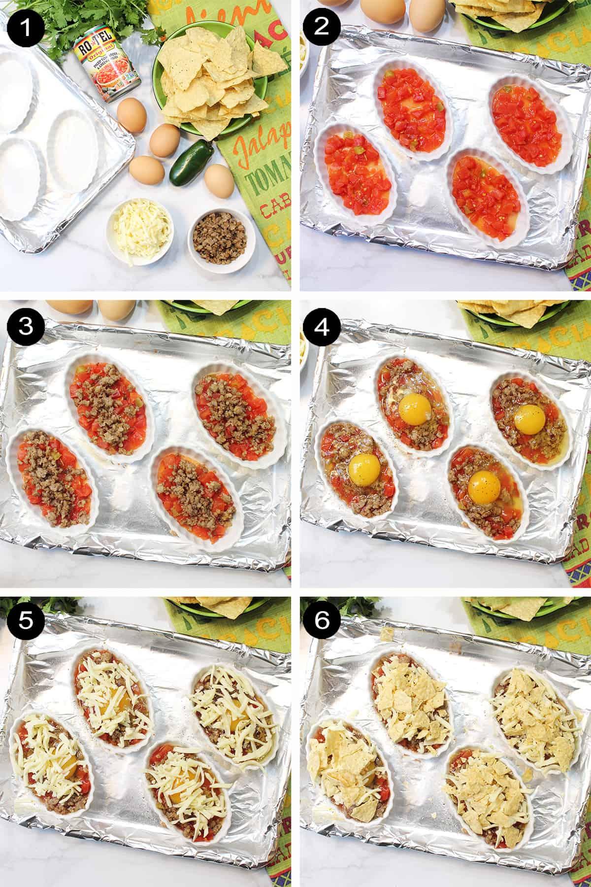 Prep steps for easy huevos rancheros.
