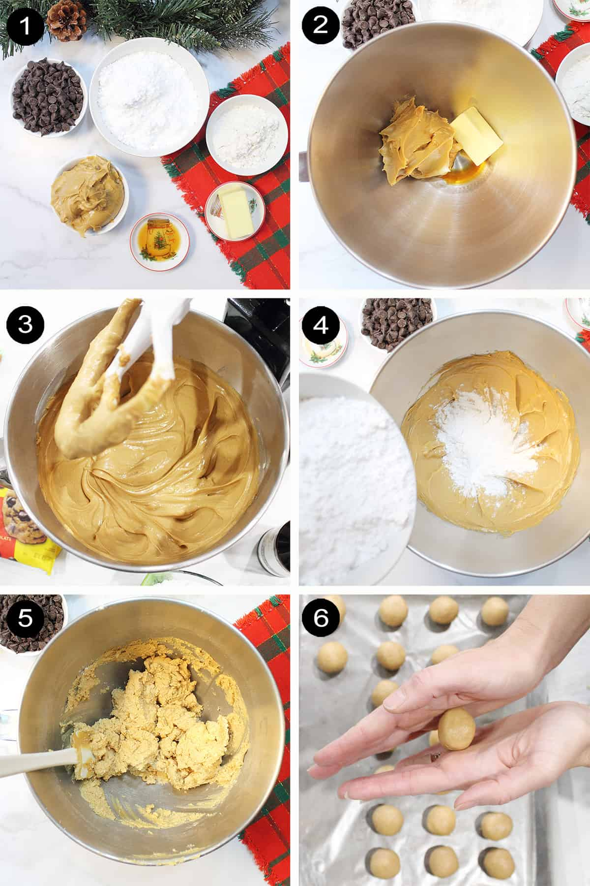 Steps to make buckeye batter.