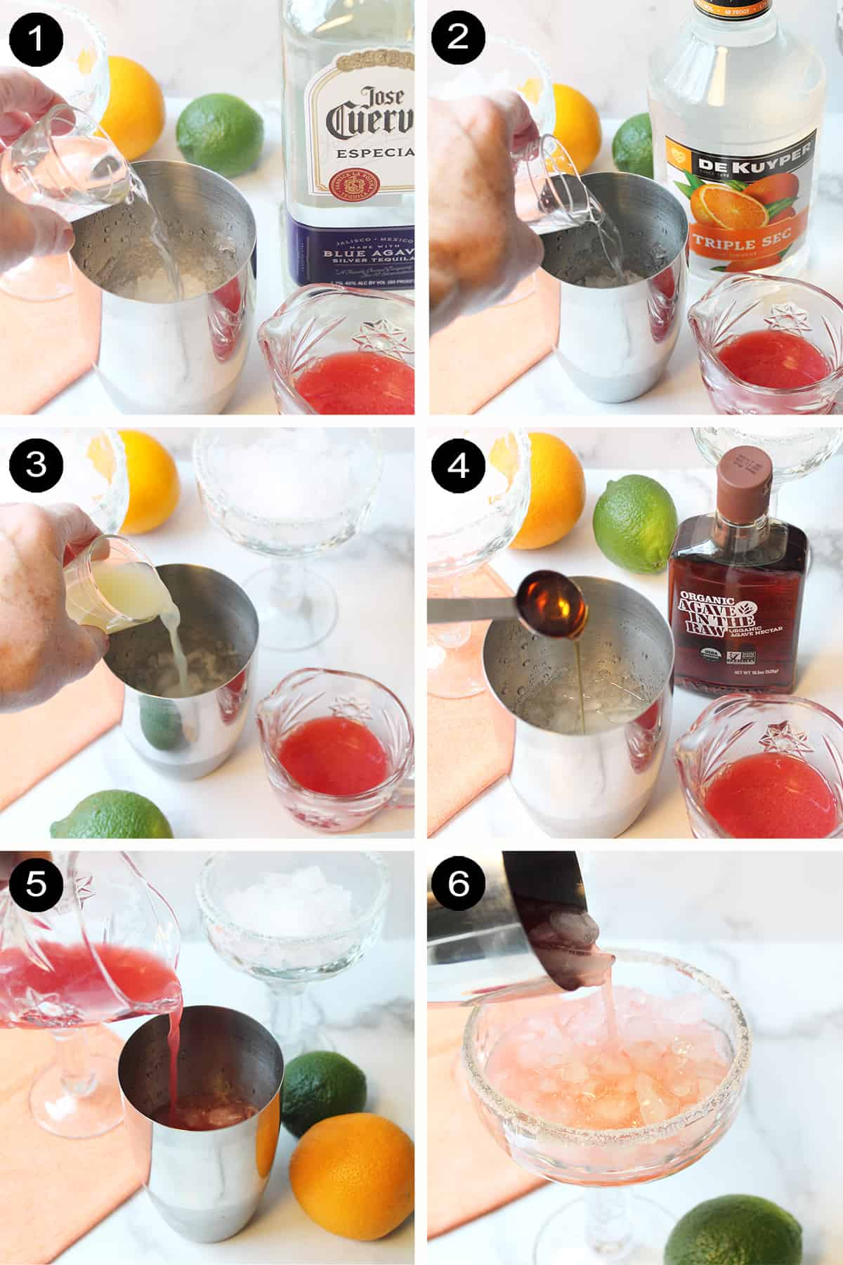 How to make a blood orange cocktail.